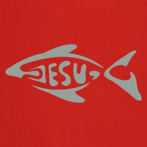 Red jesu_fish Underwear - Cooking Apron
