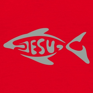 Red jesu_fish Underwear - Men's T-Shirt