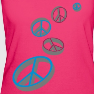 Magenta Peace sign Bags  - Women's Organic T-shirt