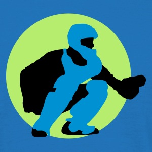 baseball_b_catcher_3c Kookschorten - Mannen T-shirt
