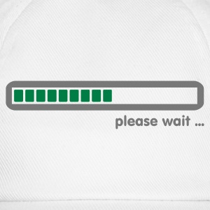 Wit loading ... please wait (2c) Mannen - Baseballcap