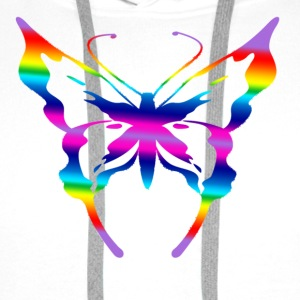 multi coloured butterfly  - Men's Premium Hoodie