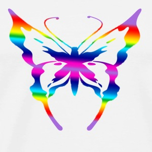 multi coloured butterfly  - Men's Premium T-Shirt