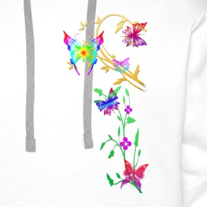 butterflies multi coloured - Men's Premium Hoodie