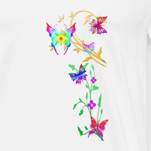butterflies multi coloured - Men's Premium T-Shirt