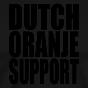 Black Dutch oranje support  Aprons - Men's Premium T-Shirt