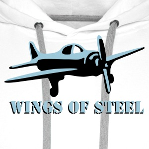 wings_of_steel_2c T-skjorter - Premium hettegenser for menn