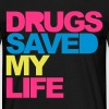 Zwart Drugs Saved V2 T-shirts - Mannen T-shirt