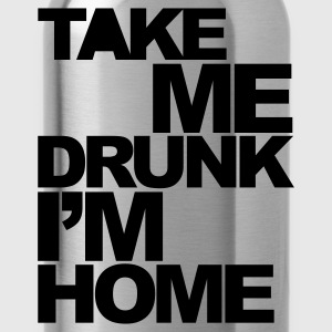 Rosso Take Me Drunk  T-shirt - Borraccia