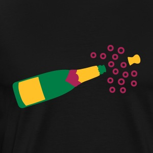 Black Popping Champagne   Aprons - Men's Premium T-Shirt