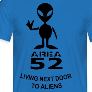 Royalblau living next door to aliens Schürzen - Männer T-Shirt