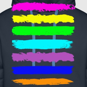 Navy colourful T-Shirts - Männer Premium Hoodie