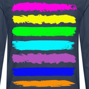 Navy colourful T-Shirts - Männer Premium Langarmshirt