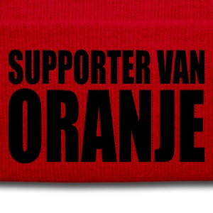 Orange/blanc Supporter van oranje T-shirts - Bonnet d'hiver