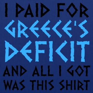 Blu scuro Greece's Deficit This Shirt (2c) T-shirt - Borsa di stoffa