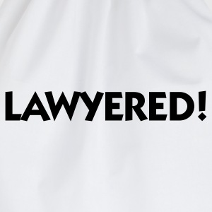 Vit Lawyered (1c) T-shirts - Gymnastikpåse