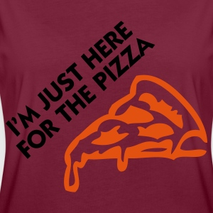 Bordeaux Just there for Pizza (2c)  Aprons - Women's Oversize T-Shirt