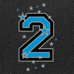 Black The number 2 and stars Men's T-Shirts - Snapback Cap