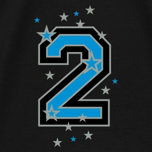 Black The number 2 and stars Bags  - Men's Premium T-Shirt