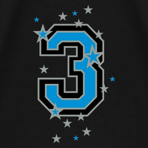 Black The number 3 and stars Bags  - Men's Premium T-Shirt