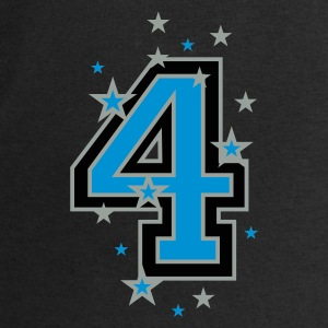 Black The number 4 and Stars Bags  - Men's Sweatshirt by Stanley & Stella