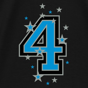 Black The number 4 and Stars Bags  - Men's Premium T-Shirt