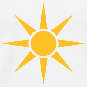 White Sun V2 Mugs  - Men's Premium T-Shirt