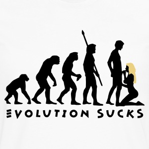 evolution_sucks_b_2c  Aprons - Men's Premium Longsleeve Shirt