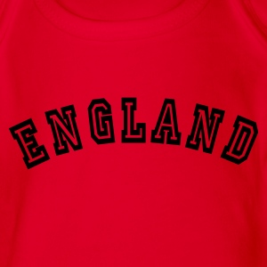 Red England Kids' Shirts - Organic Short-sleeved Baby Bodysuit