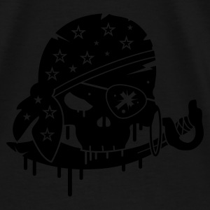 Black Pirate skull with sword and eye patch Bags  - Men's Premium T-Shirt