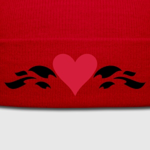 Rouge coeur de la vague / heart in wave (2c) T-shirts - Bonnet d'hiver