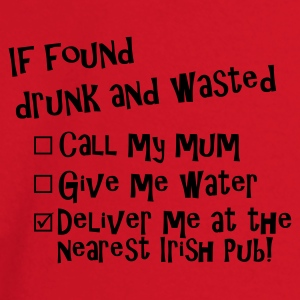 Rood if found drunk irish pub Jacks - T-shirt