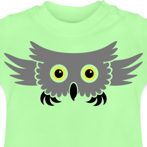 Groen vliegende uil / flying owl (3c) Kinder sweaters - Baby T-shirt