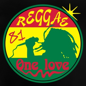 Noir reggae one love T-shirts Enfants - T-shirt Bébé