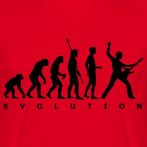 Red evolution_1c  Aprons - Men's T-Shirt
