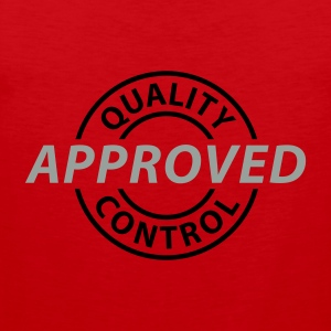 Rot Quality Control - Approved © T-Shirts - Männer Premium Tank Top