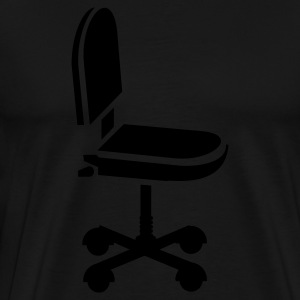 Sort kontorstol / office chair (1c) Tasker - Herre premium T-shirt