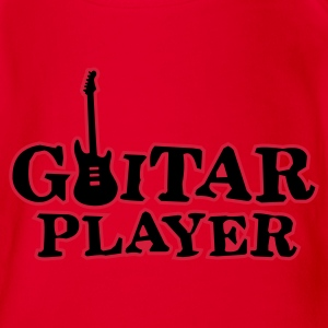 Red guitar_player_a_2c Kids' Shirts - Organic Short-sleeved Baby Bodysuit