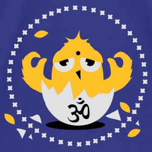 Purple zen meditation chick with Om sign Bags  - Men's Premium T-Shirt
