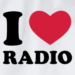 Weiß I Love Radio T-Shirts - Turnbeutel