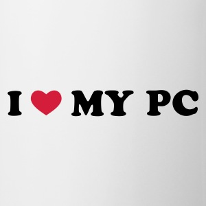 Weiß I Love My PC T-Shirts - Tasse