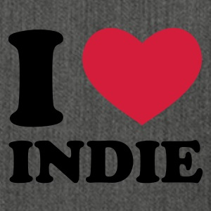 Grau meliert I Love Indie Pullover - Schultertasche aus Recycling-Material