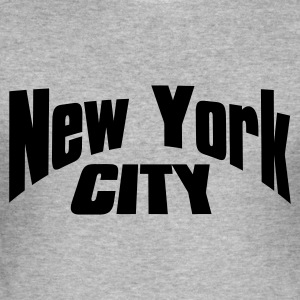 Grau meliert new york city Pullover - Männer Slim Fit T-Shirt