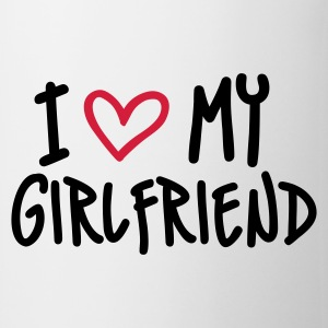 Weiß I Love my Girlfriend T-Shirts - Tasse