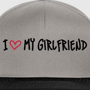 Grau meliert I Love my Girlfriend Pullover - Snapback Cap