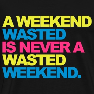 Noir A Weekend Wasted 2 Sweatshirts - T-shirt Premium Homme