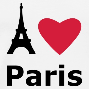White I love Paris Bags  - Men's Premium T-Shirt