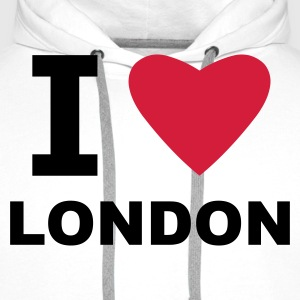 White I love London Men's T-Shirts - Men's Premium Hoodie
