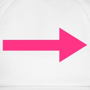 White Right Arrow Men's T-Shirts - Baseball Cap