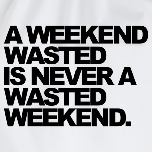 Wit A Weekend Wasted T-shirts - Gymtas